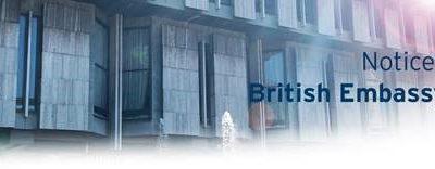 Notice from British Embassy – Rome