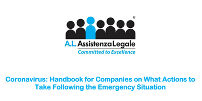 Assistenza Legale: Coronavirus – Handbook for Companies on What Actions to Take Following the Emergency Situation