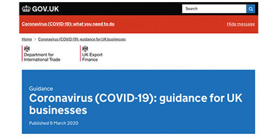 Coronavirus (COVID-19): guidance for UK businesses