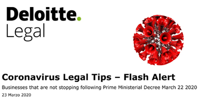 Deloitte Legal: Coronavirus legal tips – flash alert