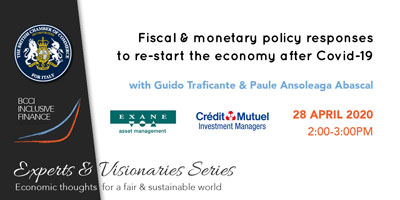 Online seminar on Fiscal & monetary policy responses to re-start the economy after COVID-19 – BCCI Inclusive Finance