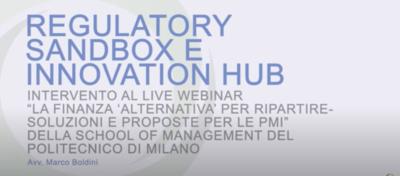 """Regulatory Sandbox e Innovation Hub"""