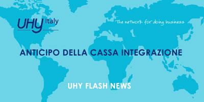 Anticipo della Cassa Integrazione – UHY Flash News