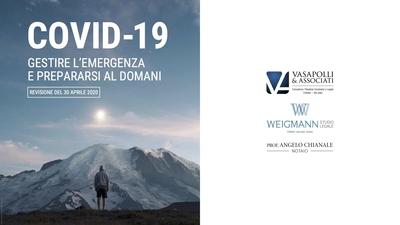 UPDATE 30-04-20: COVID-19 – GESTIRE L'EMERGENZA E PREPARARSI AL DOMANI