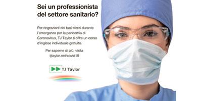 TJ Taylor lancia i corsi Rainbow, corsi individuali di inglese totalmente gratuiti per i professionisti del settore sanitario