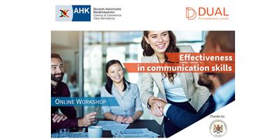 EFFECTIVENESS IN COMMUNICATION SKILLS – Workshop online