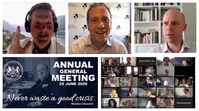 "Throwback to our AGM & ""Never waste a good crisis"" webchat last Thursday"