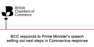 BCC responds to Prime Minister's speech setting out next steps in Coronavirus response