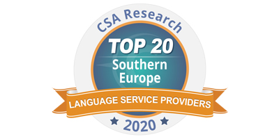 ARKADIA ENTERS THE RANKS OF THE TOP 20 INTERNATIONAL TRANSLATION COMPANIES IN THE SOUTHERN EUROPEAN AREA