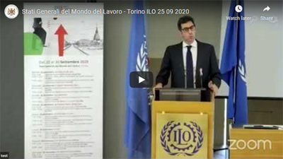 BCCI Secretary General & CEO Aaron Pugliesi speaker at the Stati Generali del Mondo del Lavoro