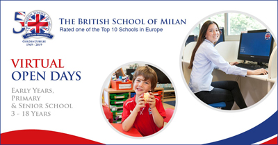The British School of Milan: Virtual Open Days