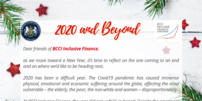 BCCI Inclusive Finance Season's Greetings – 2020 and beyond