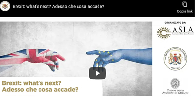 Recording available – Brexit: what's next? Adesso che cosa accade? – 25 February 2021